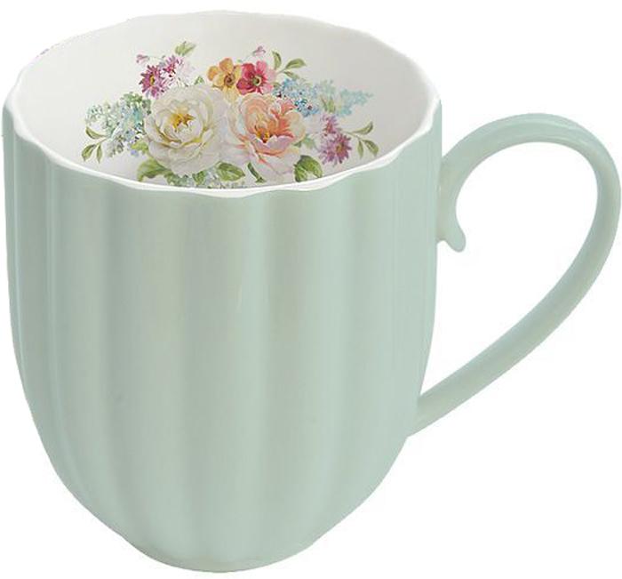 Кружка Nuova R2S Королевский сад, цвет: зеленый, 300 мл217FLAMКружка Nuova R2S Королевский сад изготовлена из высококачественного фарфора. Изделие дополнено рельефом и цветочным рисунком на внутренней поверхности. Кружка отлично сохраняет температуру содержимого - морозной зимой кружка будет согревать вас горячим чаем, а знойным летом, напротив, радовать прохладными напитками.Такой аксессуар создаст атмосферу тепла и уюта, настроит на позитивный лад и подарит хорошее настроение с самого утра. Такая посуда идеально подойдет в подарок близкому человеку.