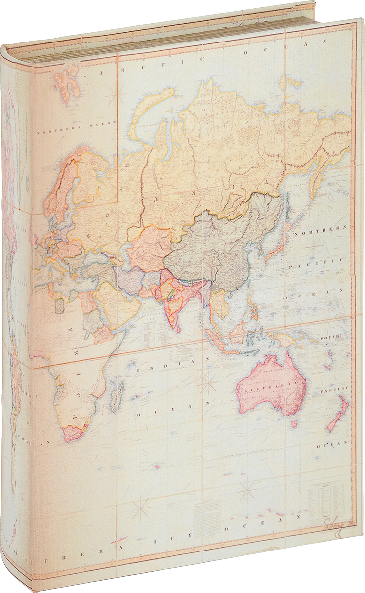Шкатулка-фолиант Win Max Карта, 26 х 17 х 5 см184324Шкатулка-фолиант - это шкатулка в виде старинной книги, предназначена для хранения ценных бумаг, писем и т.д.