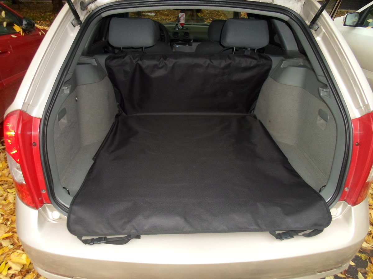 Накидка защитная для животных AvtoPoryadok  2 в 1 , в салон и багажник, цвет: черный, 185 х 130 см, размер L - Лежаки, домики, спальные места