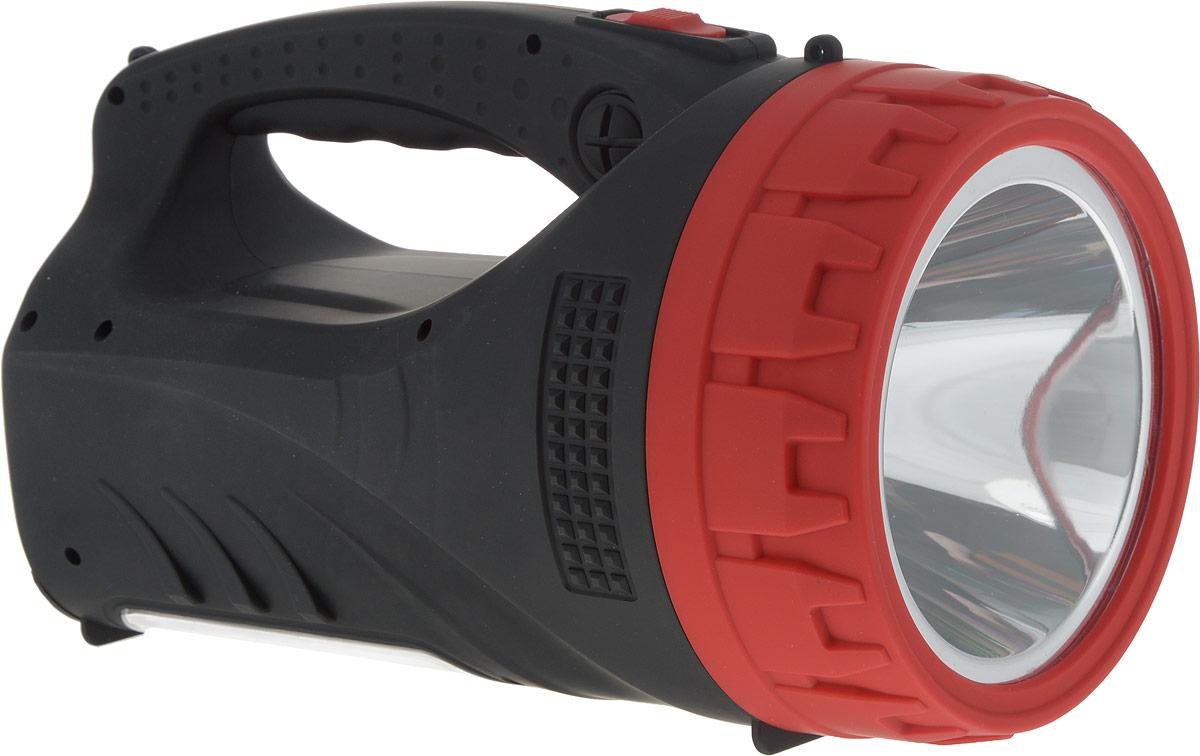 Фонарь-прожектор Navigator NPT-SP16-ACCU, аккумуляторный, кемпинговый, ручной, АКБ 4 А/ч4670004715987Фонарь-прожектор светодиодный Navigator NPT-SP16-ACCU - это надежный и современный портативный источник света. Используются в помещениях или на открытых пространствах, где необходимо мощное освещение (проведение ремонтных работ, прогулки в темное время суток, в том числе в условиях тумана, поездки на автомобиле). Технические характеристики:Материал корпуса: ABS-пластик.Источник света: светодиод.1 светодиод мощностью 5 Вт в отражателе.25 светодиодов в платформе.3 режима работы: два уровня яркости прожектора, режим кемпинг.Непрерывная работа: 25 часов.Световой поток: до 260 Лм.Дальность освещения: до 300 м.Свинцово-кислотный аккумулятор 4 В, 6 А/ч.Встроенный шнур для зарядки от сети 220 В.