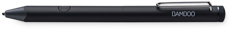 Wacom Bamboo Fineline 3, Black стилусCS-610CKНикогда не теряйте хорошие идеи. Wacom Bamboo Fineline 3 — это стилус с тонким чувствительным к нажиму наконечником для письма, зарисовок и заметок от руки, созданный специально для естественных ощущений при работе на iPad и iPhone.Идей так много, что вы не в состоянии записать их все? Используйте Bamboo Fineline на своих сенсорных устройствах iOS и любимое приложение для заметок, чтобы в деталях описать, схематично изобразить мысли и поделиться ими. Тонкий наконечник, высокая чувствительность к нажатию и эргономичный дизайн дарят ощущения работы обычной ручкой на бумаге.Чертите диаграммы, создавайте теории, пишите письма. Наслаждайтесь ощущениями традиционного письма от руки благодаря чувствительному к нажатию тонкому наконечнику и удобной форме Bamboo Fineline.Идеально точный наконечник позволяет с легкостью писать и рисовать на устройствах iOS. Bamboo Fineline также можно связать со старыми поколениями iPad по Bluetooth.Включено. Выключено. Защищено. Начните и закончите работу с Bamboo Fineline одним простым прокручиванием корпуса. Стержень убирается в корпус и защищен, когда стилус не используется.Bamboo Fineline 3 легко распознается вашим любимым приложением для создания заметок, чтобы подарить вам мощные возможности цифрового письма. Индикатор укажет, установлена ли связь с приложением и заряжен ли аккумулятор.Беспроводной интерфейс: Bluetooth Уровни давления: 1024