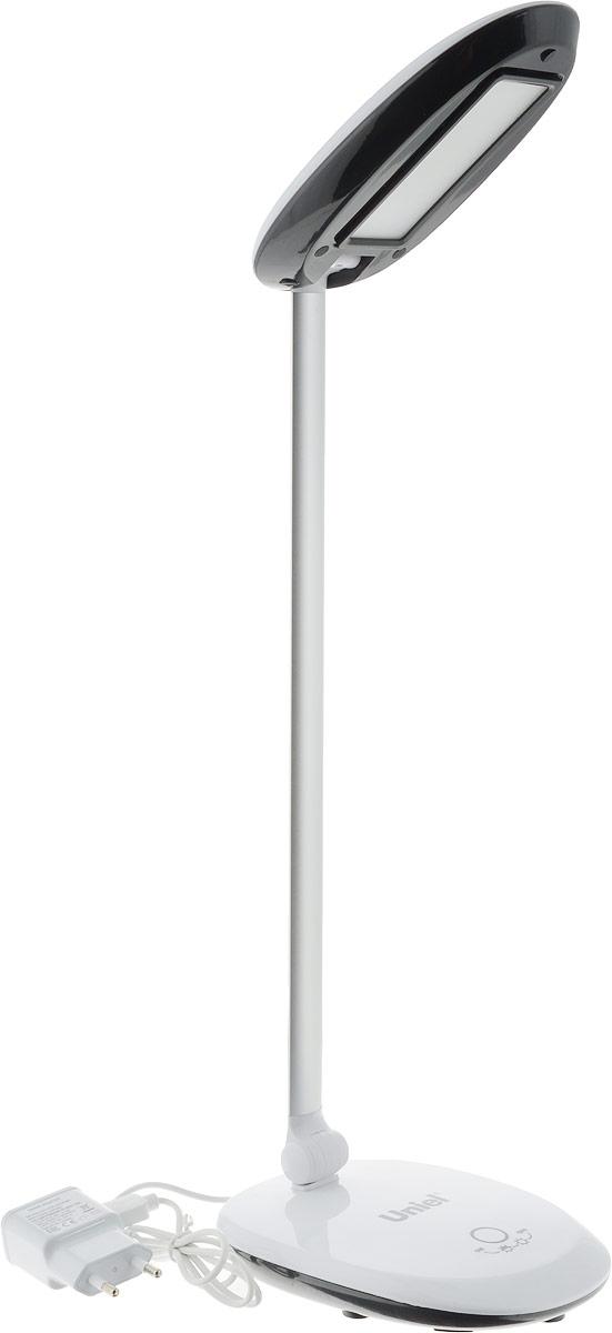 Светильник настольный Uniel TLD-531, светодиодный, с диммером, USB порт, цвет: черный, белый, 4 ВтUL-00000806Настольная лампа относится к осветительным приборам, основной функцией которых является создание дополнительного света в определенной зоне, в данном случае – на столе.