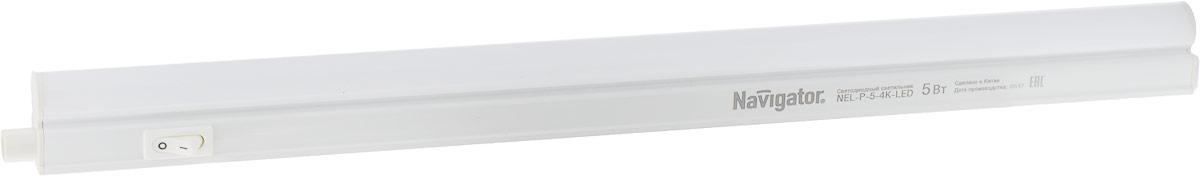 Светильник предназначен для подсветки внутренних пространств в жилых, офисных и коммерческих помещениях. Удобен в подключении и применении. Степень защиты IP33 позволяет использовать светильник в помещениях с повышенной влажностью (в ванных комнатах, в холодильных камерах, во встроенных и внешних шкафах, а также для подсветки кухонных рабочих поверхностей и проч.). Светильник оборудован механическим выключателем на корпусе.  Изделие предназначено для работы в сети переменного тока с номинальным рабочим напряжением 230 В и частотой 50 Гц.  Данное изделие сертифицировано и соответствует требованиям нормативных документов.  Характеристики:  Коэффициент цветопередачи - Ra>80  Эффективность - 80 лм/Вт Световой поток: 390 лм Цветовая температура: 4000 К Материал корпуса -  поликарбонат Гибкое или жесткое соединение в линию
