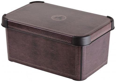 Коробка для хранения Curver Stockholm. Leather, 6 л04710-D12Коробка Curver Stockholm. Leather, выполненная из высококачественного пластика, предназначена для хранения различных вещей. Изделие оформлено принтом под кожу. Коробка оснащена крышкой. Изящный дизайн коробки впишется в любой интерьер.Декоративная коробка поможет хранить все в одном месте, а также защитить вещи от пыли, грязи и влаги.