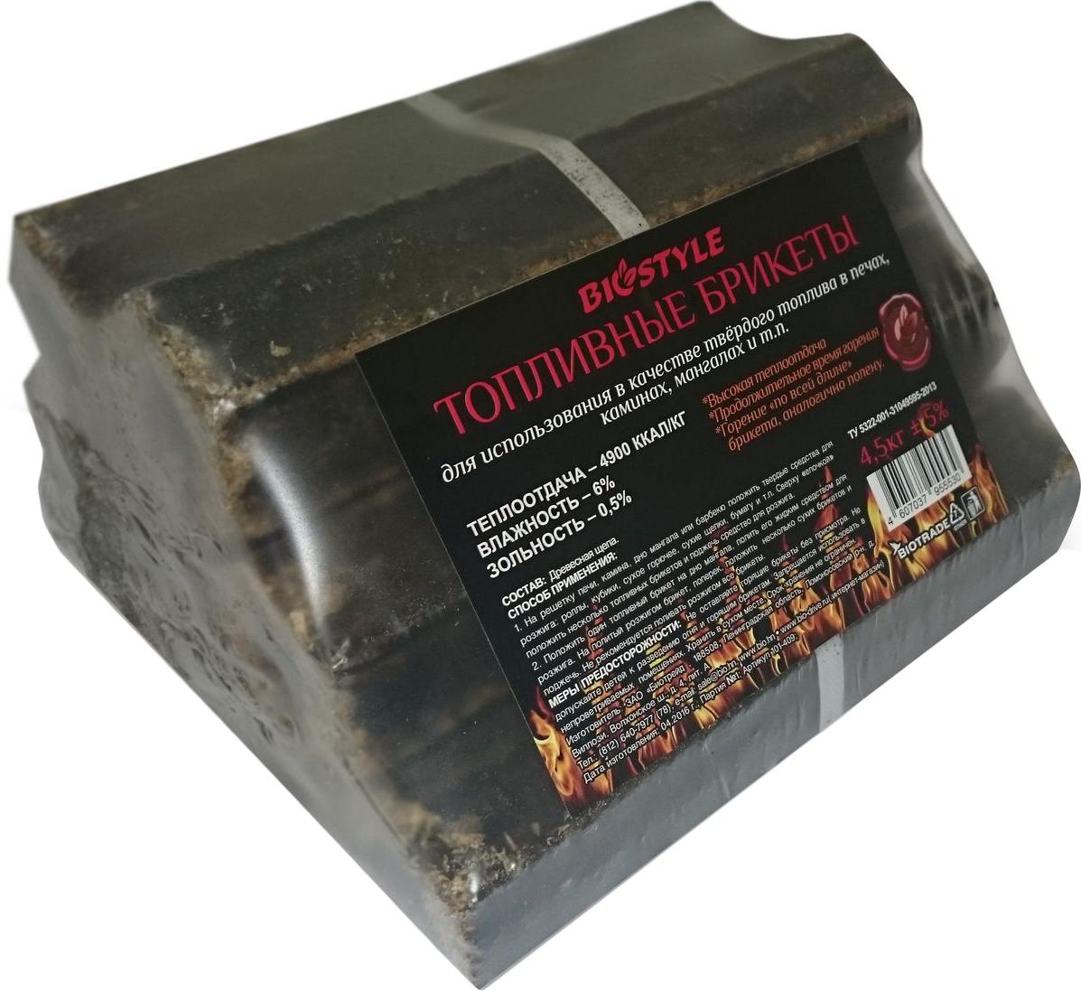 Брикеты для розжига Biostyle Piny Kay, топливные, 4,5 кг топливные котлы белорусского производства