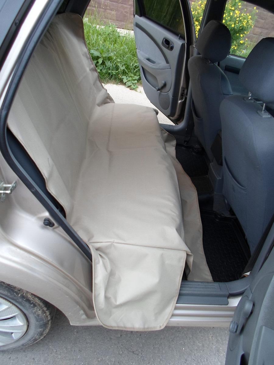 Автогамак для животных AvtoPoryadok, с защитой сидений, цвет: бежевый, 145 х 140 см