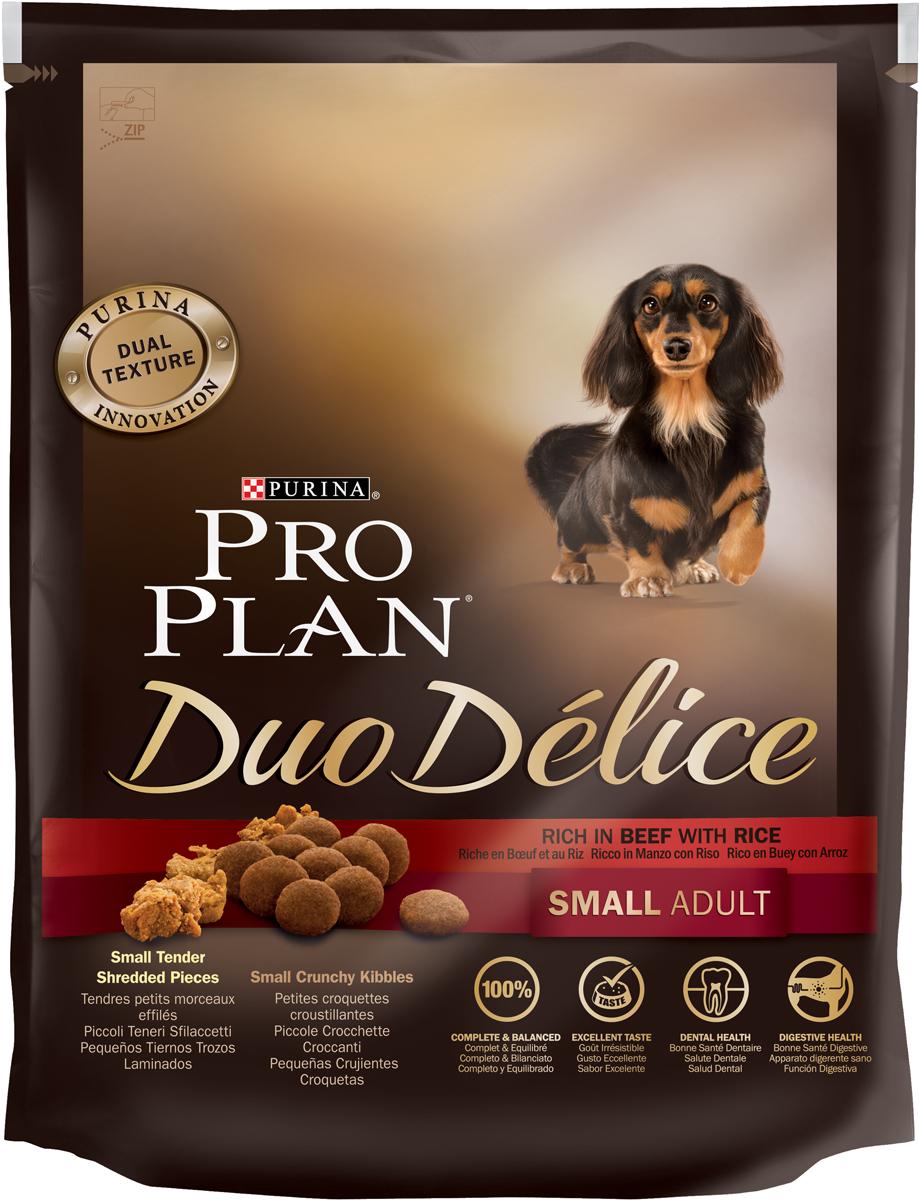 Корм сухой Pro Plan Duo Delice для собак мелких и карликовых пород, с говядиной и рисом, 700 г12251943Сухой корм Pro Plan Duo Delice - это полнорационный корм для взрослых собак мелких и карликовых пород. Это первый корм для собак, сочетающий в себе безупречные питательные свойства вместе с исключительным вкусом. Он состоит из уникального комплекса питательных хрустящих гранул и нежных измельченных кусочков мяса, которые собаки просто обожают. Состав: говядина (17%), пшеница, кукуруза, сухой белок птицы, животный жир, пшеничный глютен, сухая мякоть свеклы, рис (4%), минеральные вещества, вкусоароматическая кормовая добавка, пропиленгликоль, яичный порошок, рыбий жир, солодовая мука, витамины. Добавленные вещества (на 1 кг): витамин А 28200 МЕ; витамин D3 920 МЕ; витамин Е 550 МЕ; витамин С 140 мг; железо 75 мг; йод 1,9 мг; медь 10 мг; марганец 35 мг; цинк 140 мг; селен 0,12 мг. Технологические добавки: экстракт токоферолов натурального происхождения 60 мг/кг. Гарантируемые показатели: белок 27%, жир 17%, сырая зола 8%, сырая клетчатка 2%. Товар сертифицирован.
