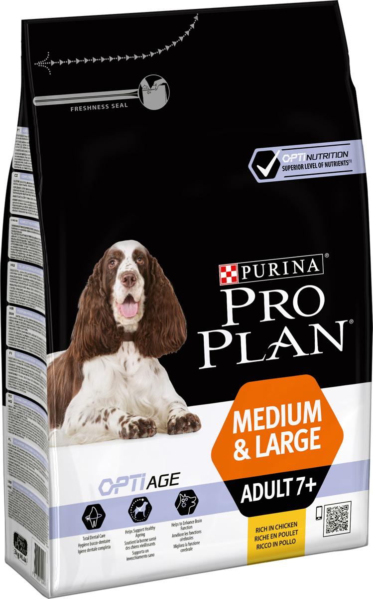 """Корм сухой Pro Plan """"Optiage"""" для собак средних и крупных пород старше 7 лет, с курицей и рисом, 3 кг"""