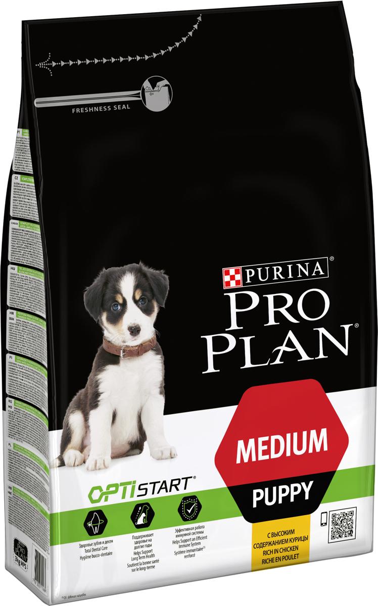 Корм сухой Pro Plan Puppy Original для щенков средних пород, с курицей и рисом, 3 кг корм для собак pro plan athletic для крупных пород курица сух 14кг