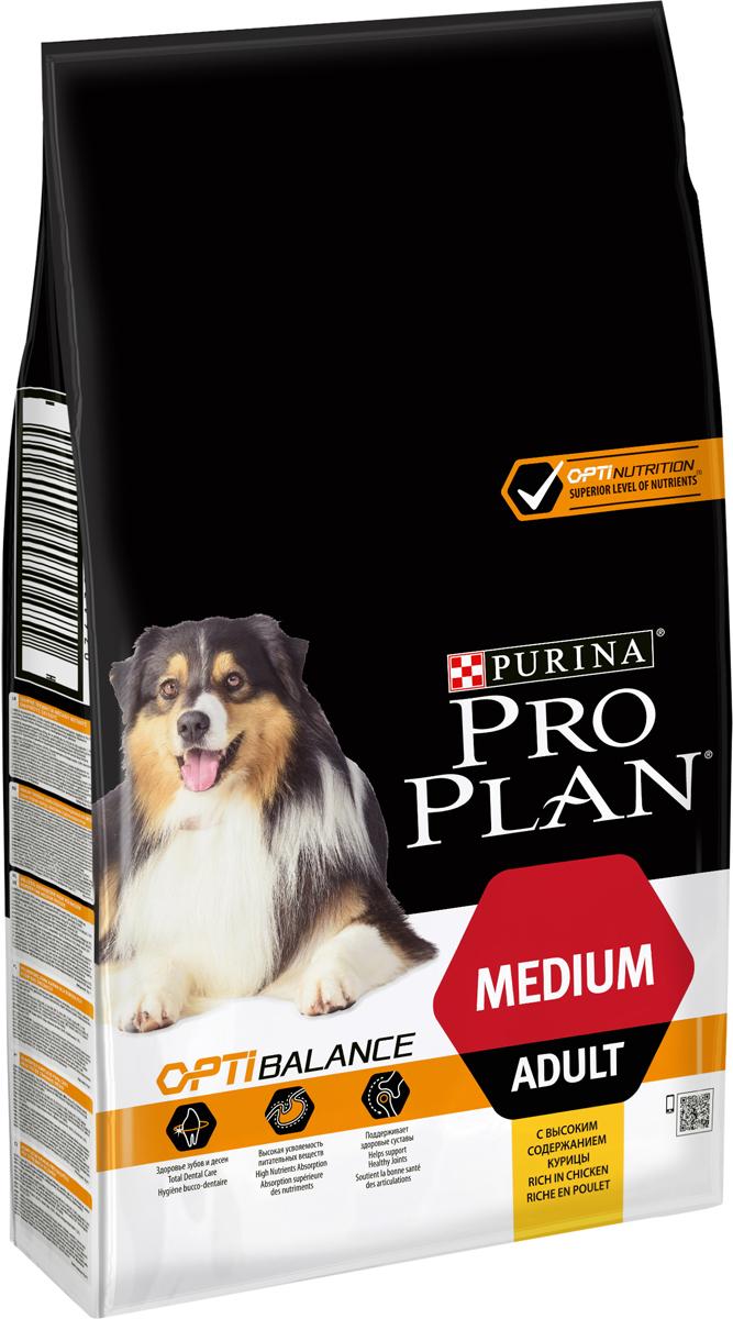 Корм сухой Pro Plan Optihealth для взрослых собак средних пород, с курицей и рисом, 7 кг корм для собак pro plan athletic для крупных пород курица сух 14кг