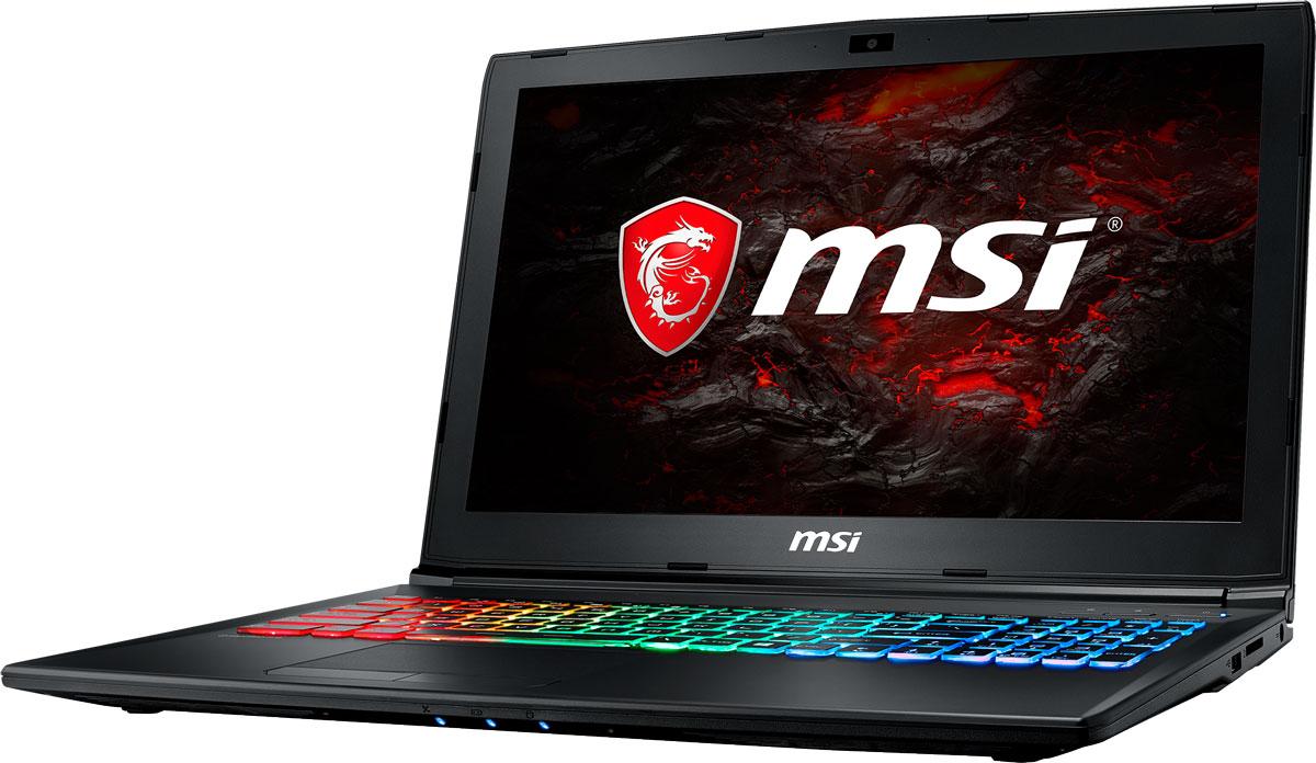 MSI GP62MVR 7RFX-1031RU Leopard Pro, BlackGP62MVR 7RFX-1031RUMSI GP62MVR 7RFX Leopard Pro - это мощный ноутбук, который адаптирован для современных игровых приложений. Стильный шлифованный алюминиевый корпус прекрасно подчёркивает эстетику и мощь этой игровой машины.Великолепная комбинация игрового ноутбука MSI GP62MVR 7RFX Leopard Pro и нового поколения графической карты NVIDIA GeForce GTX 1060 должна принести вам более совершенные ощущения в VR-мирах. Являясь единственным производителем, сертифицированным NVIDIA и HTC VIVE, компания MSI стала первым брендом на рынке игровых ноутбуков VR Ready. Мощнейшие мобильные VR-платформы MSI дарят своим пользователям исключительно плавный геймплей и поистине всеохватывающие ощущения в виртуальном пространстве.7-ое поколение процессоров Intel Core серии H обрело более энергоэффективную архитектуру, продвинутые технологии обработки данных и оптимизированную схемотехнику. Производительность Core i7-7700HQ по сравнению с i7-6700HQ выросла в среднем на 8%, мультимедийная производительность - на 10%, а скорость декодирования/кодирования 4K-видео - на 15%. Аппаратное ускорение 10-битных кодеков VP9 и HEVC стало менее энергозатратным, благодаря чему эффективность воспроизведения видео 4K HDR значительно возросла.Запускайте игры быстрее других благодаря потрясающей пропускной способности PCI-E Gen 3.0x4 с поддержкой технологии NVMe на одном устройстве M.2 SSD. Используйте потенциал твердотельного диска Gen 3.0 SSD на полную. Благодаря оптимизации аппаратной и программной частей достигаются экстремальный скорости чтения до 2200 МБ/с, что в 5 раз быстрее твердотельных дисков SATA3 SSD.Вы сможете достичь максимально возможной производительности вашего ноутбука благодаря поддержке оперативной памяти DDR4-2400, отличающейся скоростью чтения более 32 Гбайт/с и скоростью записи 36 Гбайт/с. Возросшая на 40% производительность стандарта DDR4-2400 (по сравнению с предыдущим поколением, DDR3-1600) поднимет ваши впечатления от современных и будущ