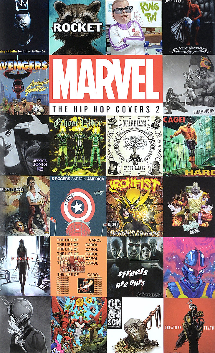 Marvel: The Hip-Hop Covers Volume 2 reedoon 1417 trend of the goddess hip hop sunshade sunglasses black golden