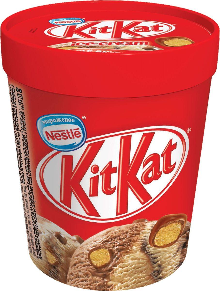 Kit Kat Мороженое Шоколад с вафельными шариками, 480 мл4607150081192Аппетитная комбинация шоколадного мороженого и мороженого со вкусом вафли и с хрустящими шариками.