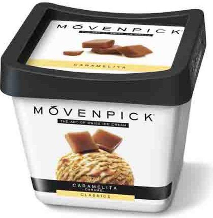 Movenpick Мороженое Карамель, 900 мл7613030839828Сливочное совершенство классического швейцарского мороженого, с любовью изготовлен¬ного швейцарскими мастерами и дополненного волнами карамельного соуса и сладкими кусочками карамели. Это один из наших самых любимых рецептов с первых дней существования компании Movenpick.