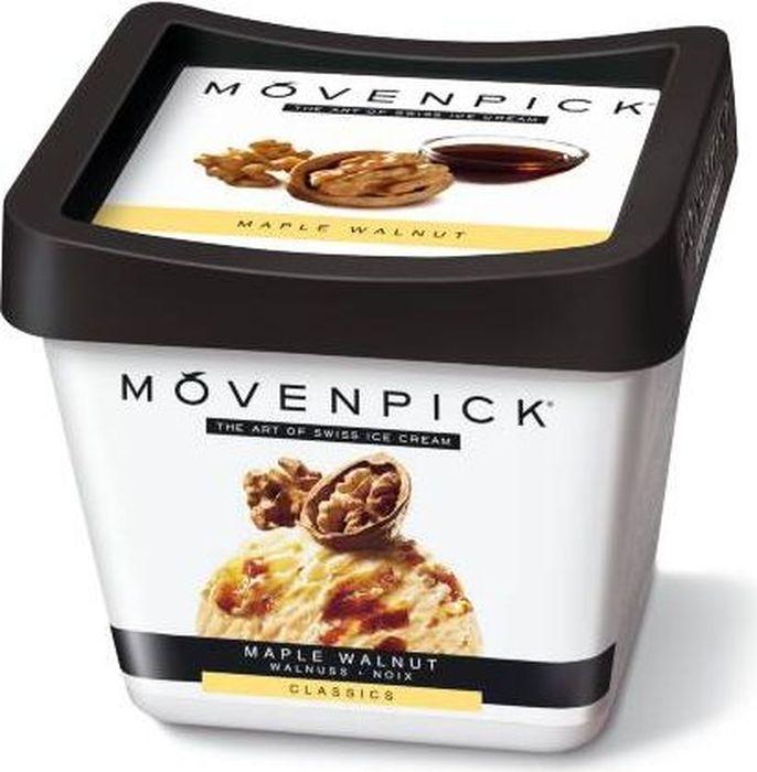 Movenpick Мороженое Грецкий орех с кленовым сиропом, 900 мл7613030863656Настоящий канадский кленовый сироп является ингредиентом, создающим ключевую ноту этого знаменитого рецепта. В основе мороженого — швейцарские сливки с волнами кленового сиропа. Карамелизированные грецкие орехи добавляют сладость и сохраняют свою уникальную хрустящую текстуру.