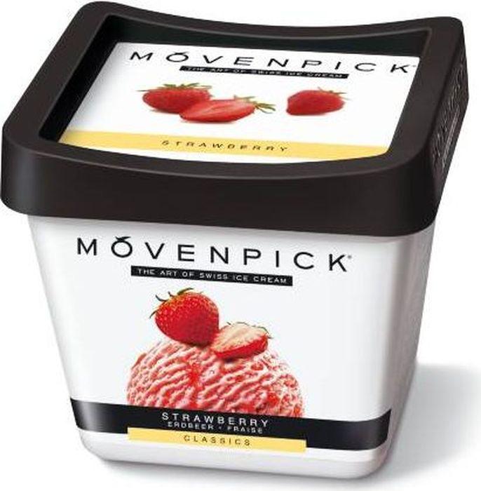 Movenpick Мороженое Клубничное, 900 мл 48 копеек мороженое ваниль клубника 850 мл