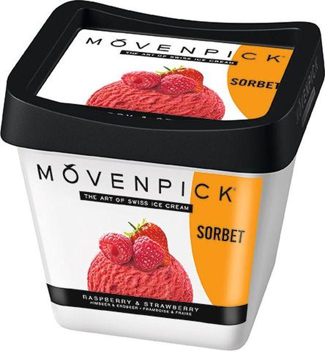 Movenpick Сорбет Малина с кусочками клубники, 500 мл movenpick мороженое фисташковое 900 мл