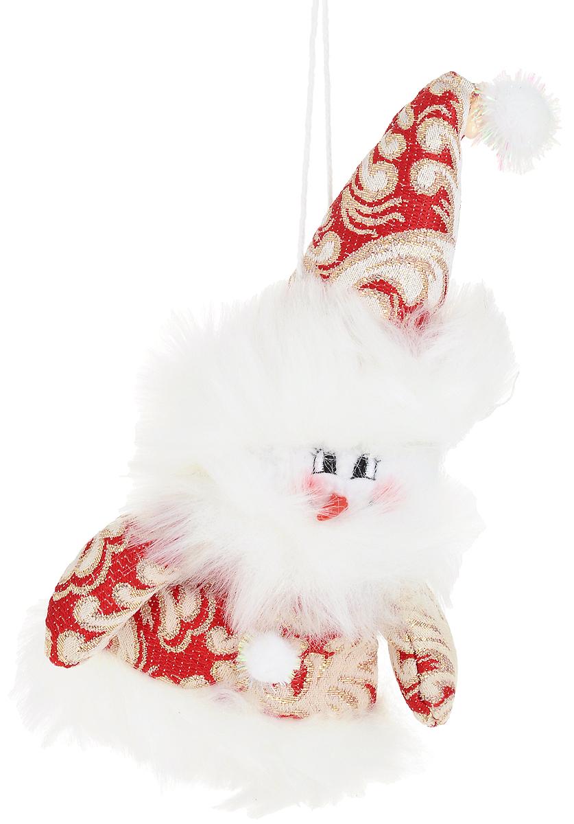"""Украшение для интерьера """"Дед мороз"""" идеально дополнит новогодний интерьер, а также может стать оригинальным сувениром для ваших друзей  и близких. Изделие выполнено из текстиля, полиестера и синтепона. Украшение представляет собой мягкую фигурку снеговика, переодетого в  деда мороза.  Изделие будет отличным украшением для бутылки шампанского.  Размеры: 12 х 20 х 5 см"""