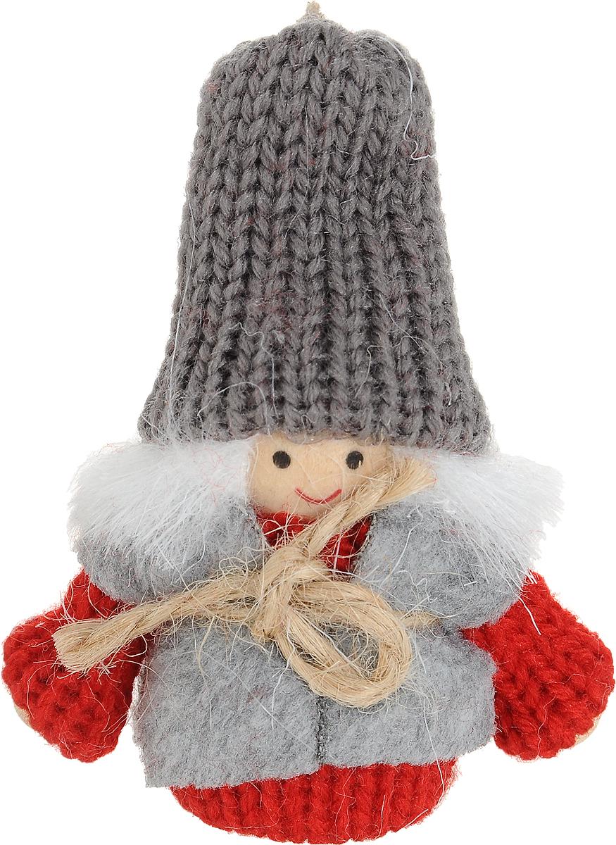 Новогоднее украшение Девочка, цвет: серый, 7 см97421Новогоднее украшение Девочка с подвижными ручками прекрасно подойдет для праздничного декора дома и новогодней ели. Фигурка выполнена из текстиля и дерева в виде маленькой девочки в теплой одежде.Елочная игрушка - символ Нового года. Она несет в себе волшебство и красоту праздника. Создайте в своем доме атмосферу веселья и радости, украшая новогоднюю елку нарядными игрушками, которые будут из года в год накапливать теплоту воспоминаний.