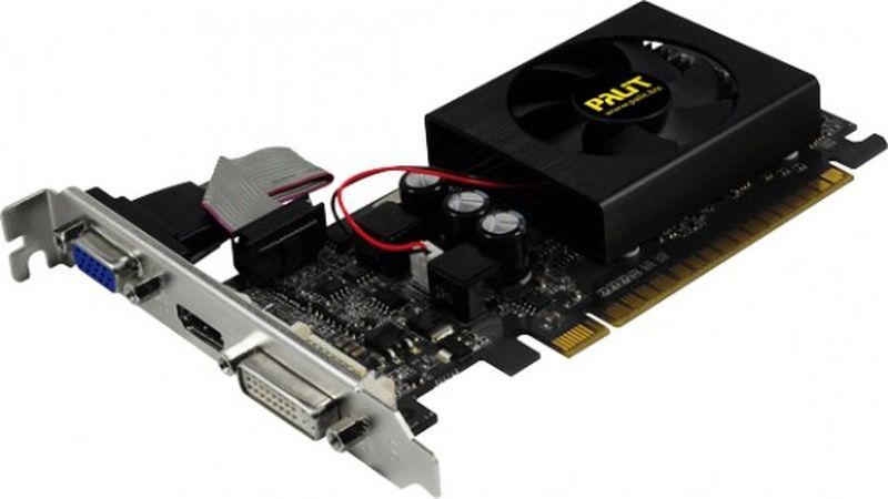 Palit GeForce GT 610 1GB видеокарта (OEM)NEAT6100HD06-1196F BULKКаждый компьютер заслуживает дискретную видеокарту. Поднимите мультимедийную производительность своего компьютера на новые высоты с помощью видеокарты NVIDIA GeForce GT 610. Вы всегда можете рассчитывать на дискретную графику NVIDIA, если вашим любимым приложениям требуется прирост скорости или более реалистичное изображение.ThunderMasterКомпания Palit представляет улучшенную версию оверклокерской программы ThunderMaster, которая позволяет оптимизировать функции видеокарт серии GeForce. Новое программное обеспечение задействует все преимущества технологии NVIDIA GPU Boost для мониторинга рабочих частот видеокарты, чтобы обеспечить максимальную производительность и безопасность работы системы в самых требовательных играх.PCI Express 2.0Эта карта разработана для интерфейса PCI Express 2.0, обеспечивающего высочайшую скорость передачи данных для игр, которым требуется высокая производительность и 3D-приложений. В то же время она сохраняет обратную совместимость с материнскими платами PCI Express.DirectX 11Графический процессор DirextX 11 с поддержкой Shader Model 5.0 разработан для сверхвысокой производительности с новыми ключевыми функциями API и аппаратной тесселяцией.V-SyncАдаптивная технология вертикальной синхронизации Новая технология NVIDIA сделает игры еще более плавными и реалистичными. Параметры вертикальной синхронизации меняются прямо во время игры в зависимости от частоты кадров для лучшего геймплея.HDMIИнтерфейс HDMI 1.4 позволяет передавать звук и видео высокой четкости на телевизор по одному кабелю.PhysXПолная поддержка технологии NVIDIA PhysX позволяет вывести на новый уровень физические эффекты в играх для более динамичной и реалистичной игры с GeForce.Как собрать игровой компьютер. Статья OZON Гид