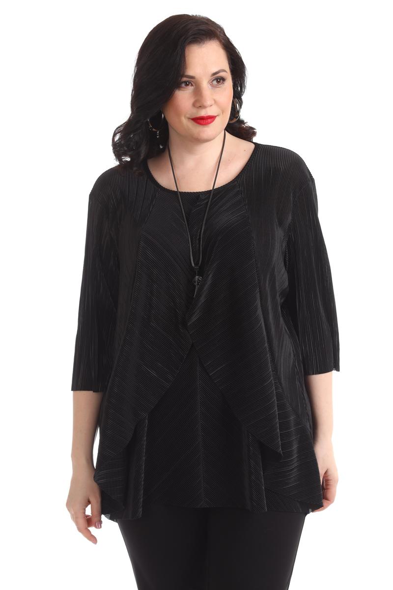 Блузка женская Averi, цвет: черный. 1364_001. Размер 60 (64) блузка женская averi цвет черный 1362 001 размер 52 56