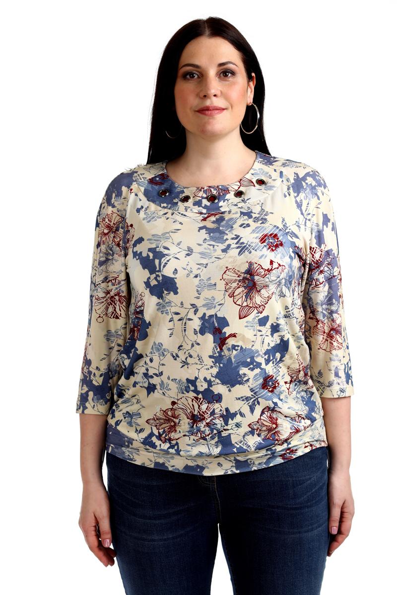 Блузка женская Averi, цвет: бежевый. 1365_699. Размер 64 (68) блузка женская averi цвет зеленый 1430 размер 64 68