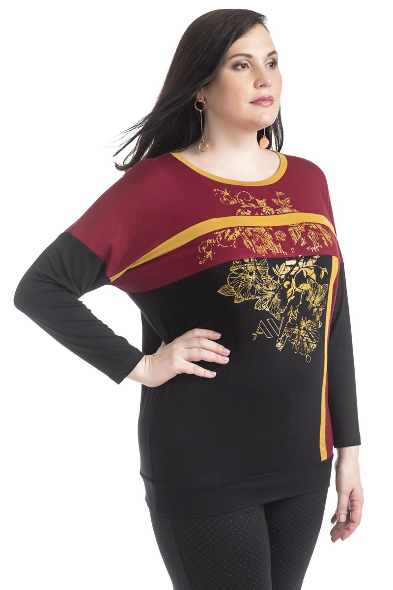 Блузка женская Averi, цвет:  вишневый.  1370_070.  Размер 56 (60) Averi