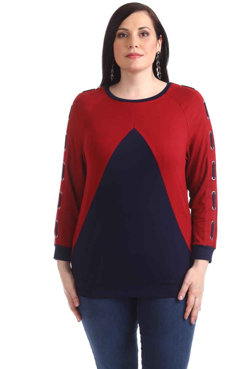 Блузка женская Averi, цвет: бордовый. 1371_025. Размер 64 (68) блузка женская averi цвет коралловый 1440 размер 64 66