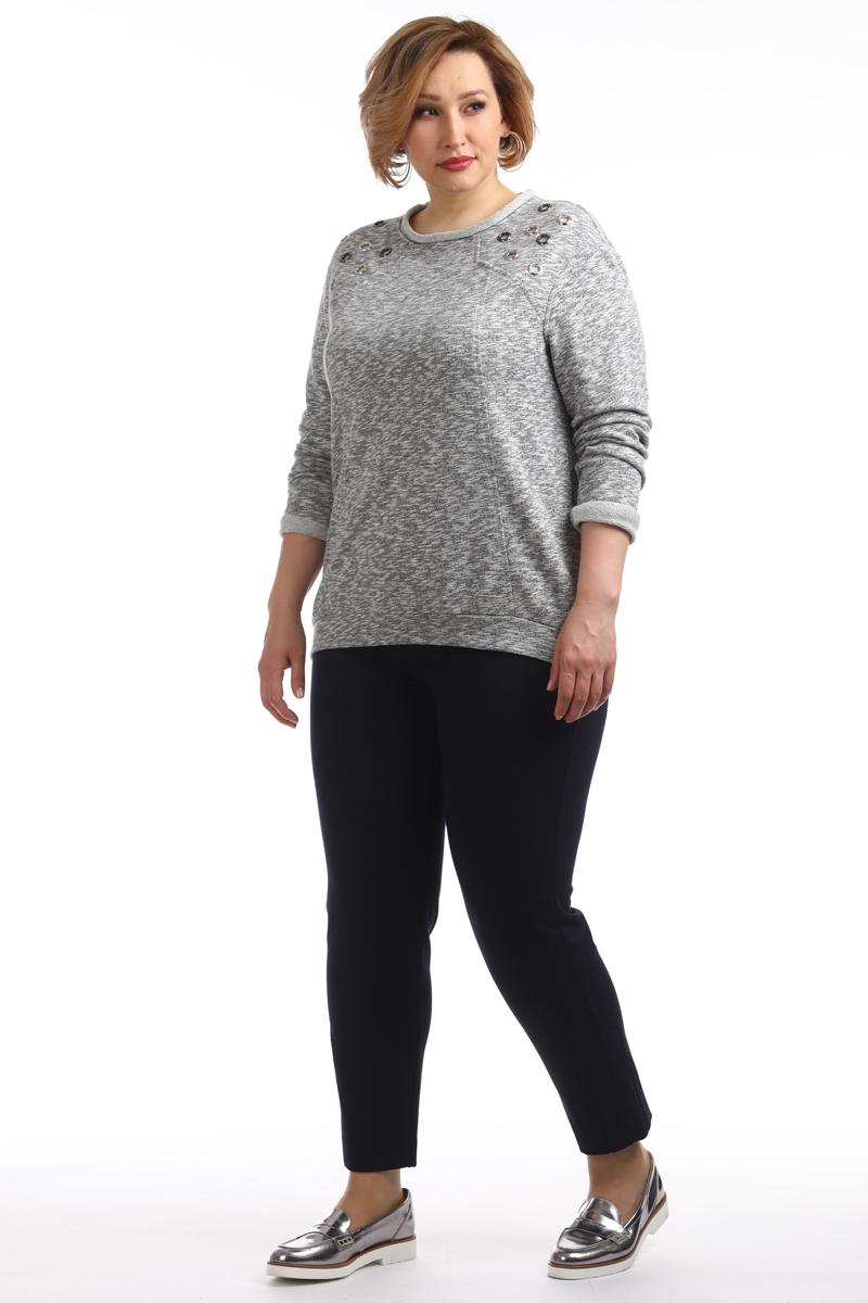 Джемпер женский Averi, цвет: серый меланж. 1379_332. Размер 60 (64) топ женский averi цвет синий 1335 025 размер 60 64