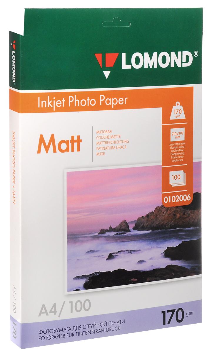 Lomond Inkjet Photo Paper матовая фотобумага, 100 листов (0102006)0102006Матовая двусторонняя универсальная бумага для струйной печати. Обеспечивает быстрое высыхание чернил; устойчива к действию повышенной влажности; обладает антистатическими свойствами.Уважаемые клиенты! Обращаем ваше внимание на то, что упаковка может иметь несколько видов дизайна.Поставка осуществляется в зависимости от наличия на складе.