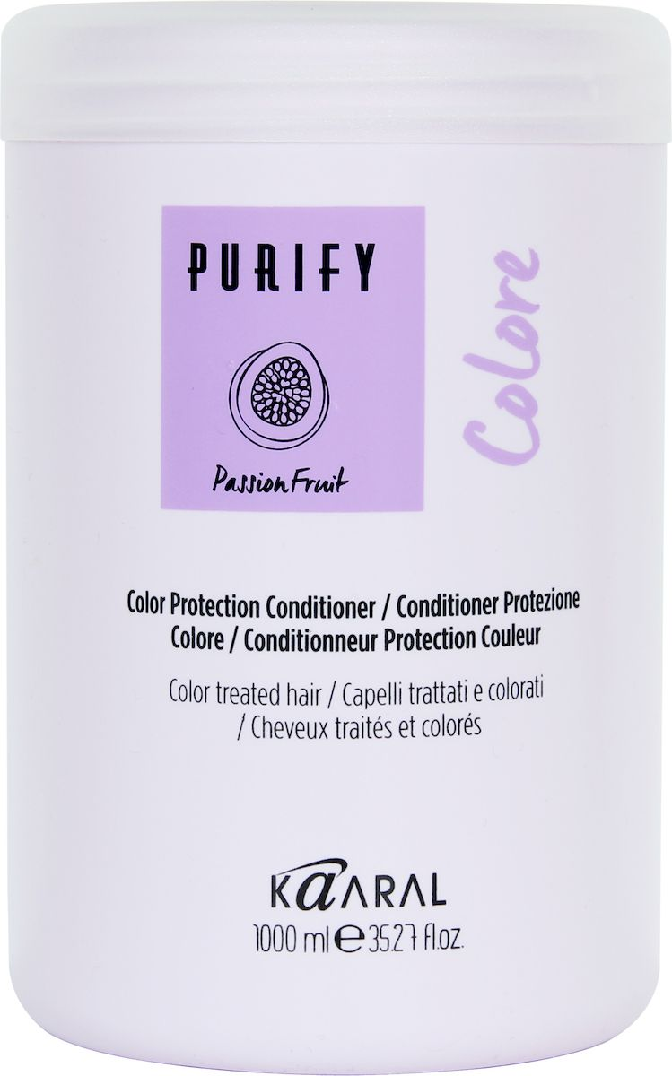 Kaaral Кондиционер для окрашенных волос Purify Colore Conditioner, 1000 мл kaaral purify colore shampoo шампунь для окрашенных волос 250 мл