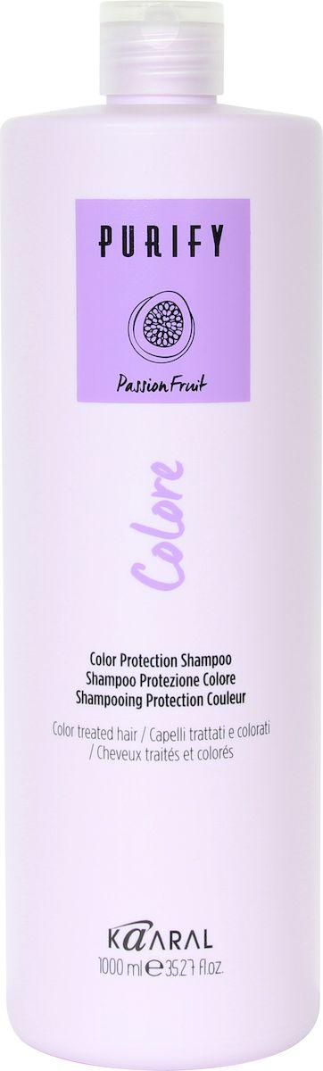 Kaaral Шампунь для окрашенных волос Purify Colore Shampoo, 1000 мл lakme шампунь для защиты цвета окрашенных волос shampoo 300 мл