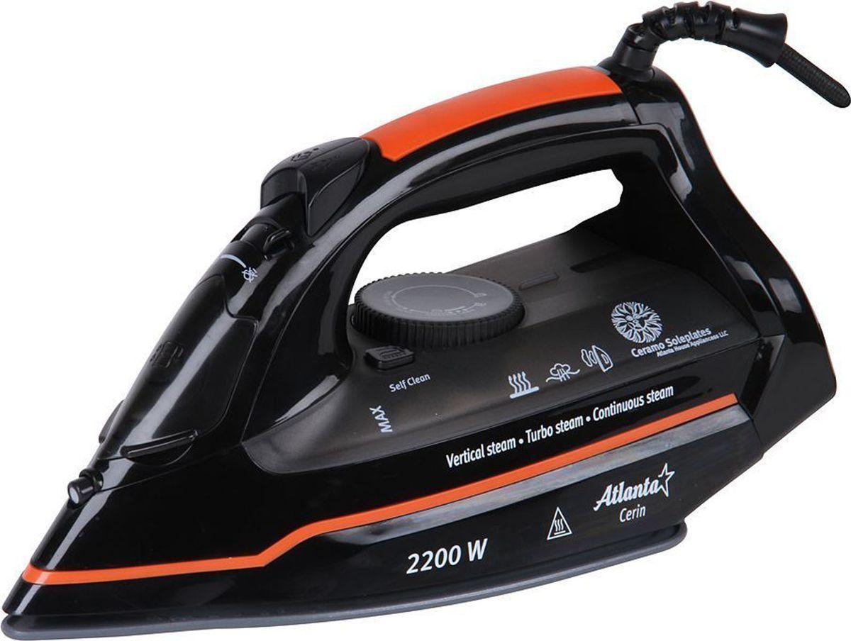 Atlanta ATH-5536, Black утюг atlanta утюг atlanta ath 5497 black