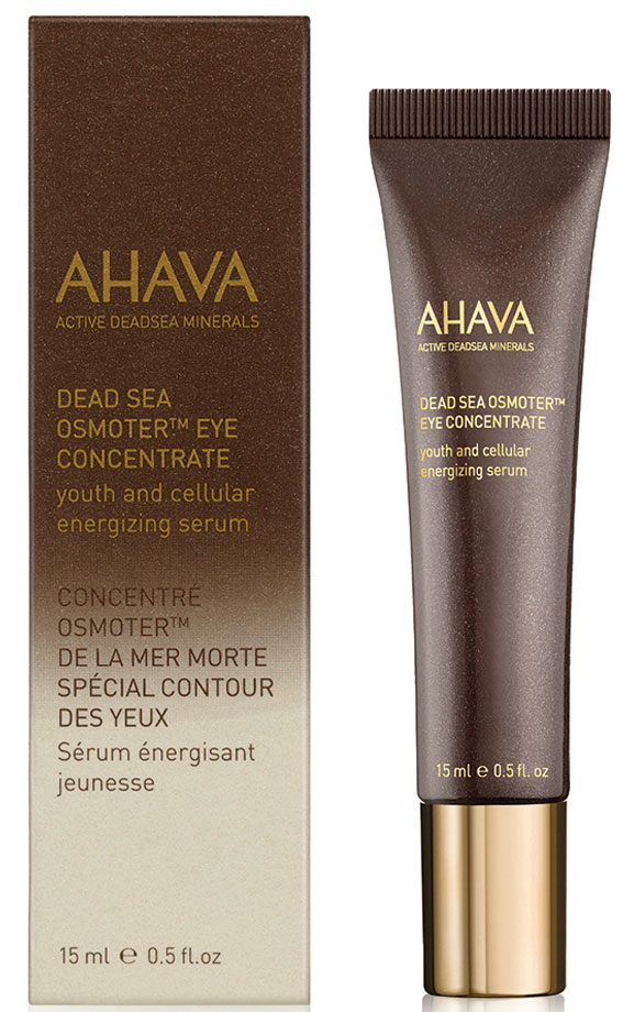 Ahava Dsoc Концентрат минералов мертвого моря osmoter для глаз 15 мл82815066Концентрат для глаз, решающий сразу несколько проблем, создан специально для ухода за нежной кожей вокруг глаз. Устраняет следы усталости, снижает появление темных кругов под глазами, отечность, сухость, обеспечивает комфорт и подсвечивает кожу вокруг глаз.