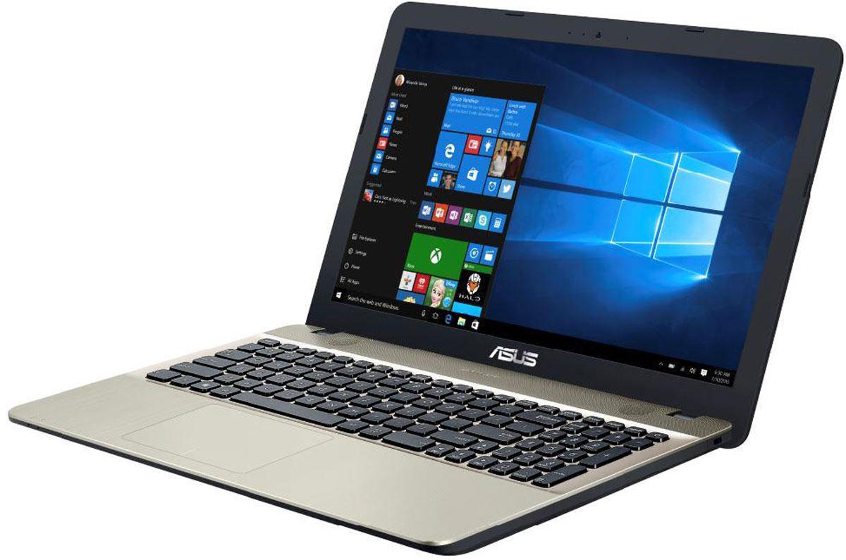 ASUS R541NA-GQ448TR541NA-GQ448TAsus R541NA - это современный ноутбук для ежедневного использования как дома, так и в офисе.Для быстрого обмена данными с периферийными устройствами Asus R541NA предлагает высокоскоростной порт USB 3.1 (5 Гбит/с), выполненный в виде обратимого разъема Type-C. Его дополняют традиционные разъемы USB 2.0 и USB 3.0. В число доступных интерфейсов также входят HDMI и VGA, которые служат для подключения внешних мониторов или телевизоров, и разъем проводной сети RJ-45. Кроме того, у данной модели имеется кардридер формата SD/SDHC/SDXC.Благодаря эксклюзивной аудиотехнологии SonicMaster встроенная аудиосистема ноутбука Asus R541NA может похвастать мощным басом, широким динамическим диапазоном и точным позиционированием звуков в пространстве. Кроме того, ее звучание можно гибко настроить в зависимости от предпочтений пользователя и окружающей обстановки.Ноутбук R541NA выполнен в прочном, но легком корпусе весом всего 2,1 кг, поэтому он не будет обременять своего владельца в дороге, а привлекательный дизайн и красивая отделка корпуса превращают его в современный, стильный аксессуар.Эргономичная клавиатура этого ноутбука обладает полноразмерными клавишами, каждая из которых наделена оптимизированным сопротивлением нажатию. Ваши руки не устанут даже после долгой работы с текстом.Тачпад, которым оснащается модель серии R541, обладает большой сенсорной панелью и поддерживает множество различных жестов: скроллинг, масштабирование, перетаскивание. За их корректное и быстрое распознавание отвечает специальная технология Asus Smart Gesture.Ноутбук сертифицирован EAC и имеет русифицированную клавиатуру и Руководство пользователя на русском языке.