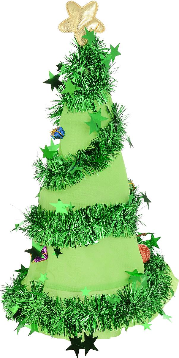 Аксессуар карнавальный Шапка елочка, цвет: зеленый