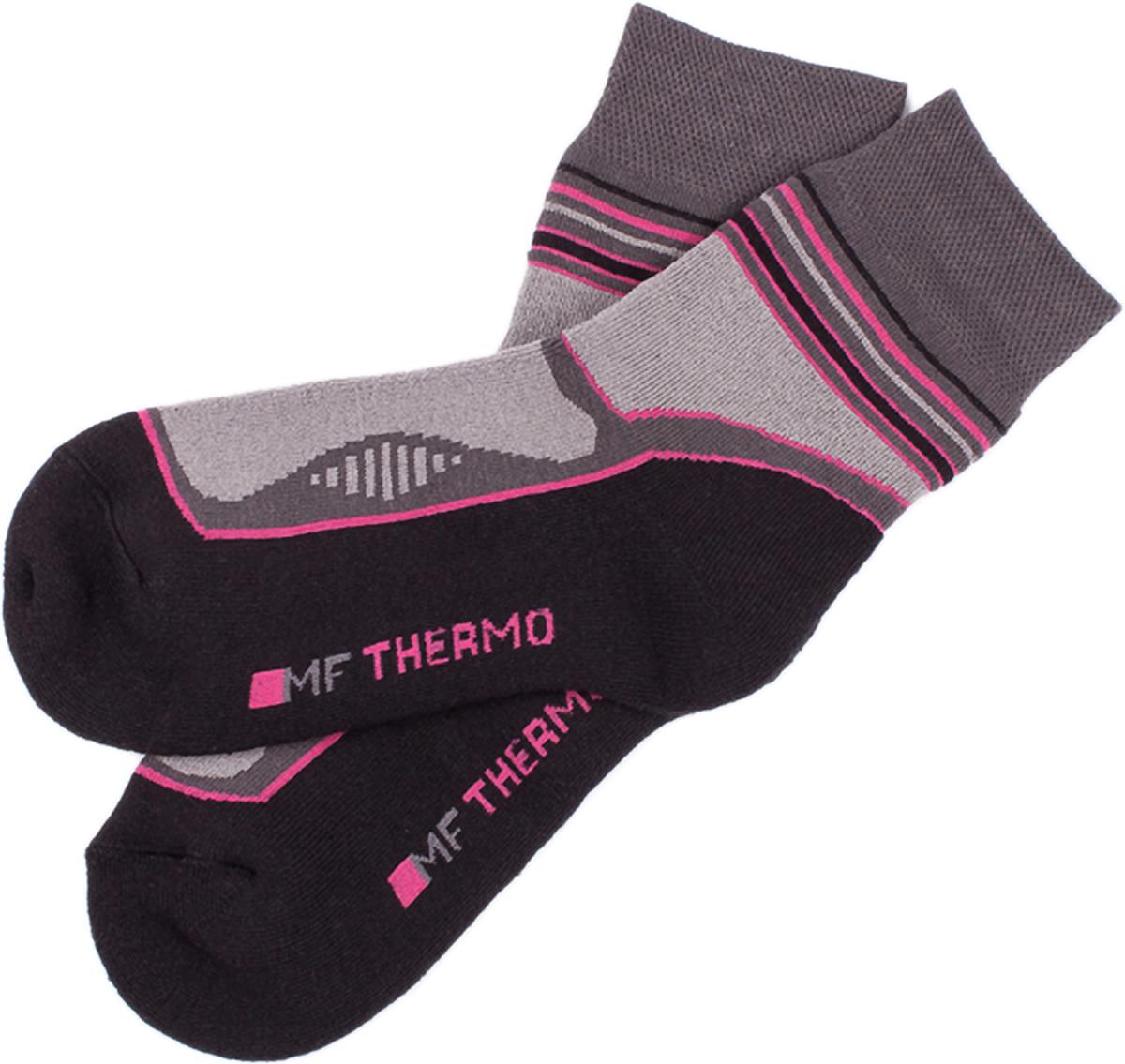 Носки женские Mark Formelle, цвет: темно-серый, розовый. 372T-015. Размер 38/39372T-015