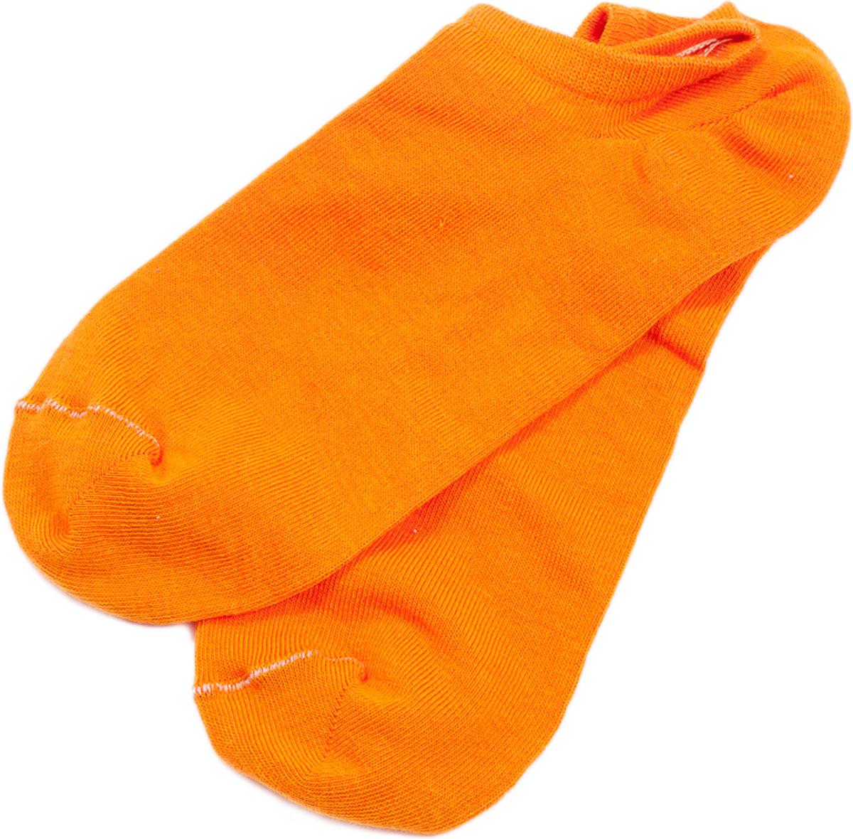 Носки женские Mark Formelle, цвет: оранжевый. 310C-489. Размер 36/37310C-489Удобные укороченные носки от Mark Formelle, изготовленные из высококачественного хлопкового материала с добавлением полиамида и эластана, очень мягкие и приятные на ощупь, позволяют коже дышать. Эластичная резинка плотно облегает ногу, не сдавливая ее, обеспечивая комфорт и удобство. Спортивные носки с очень коротким паголенком и Y-образной пяткой.