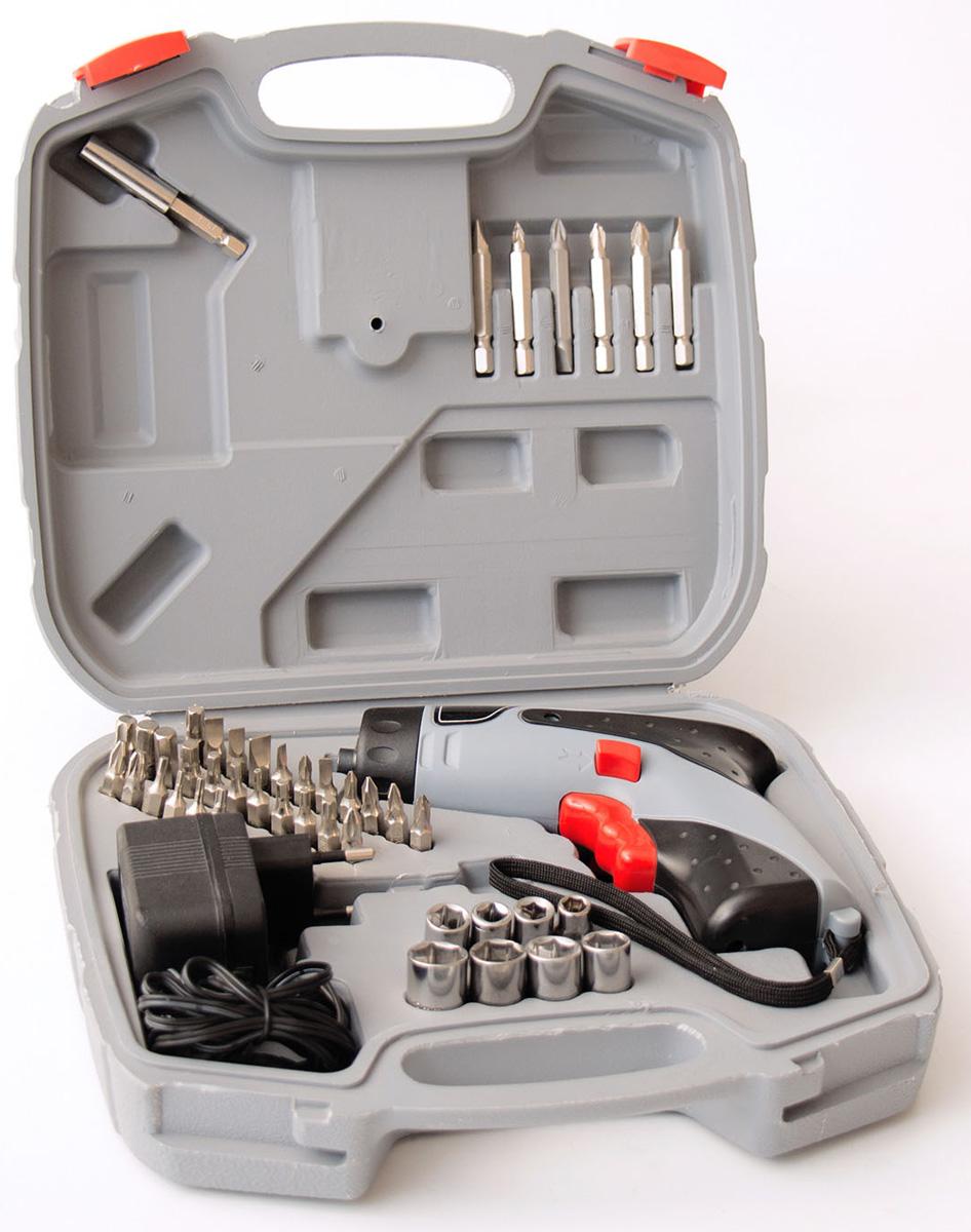 Отвертка аккумуляторная Ставр ОА-4,8ст4,8оаАккумуляторная отвертка Ставр ОА-4,8 служит для установки различных крепежных элементов с минимальными усилиями пользователя. Питание инструмента осуществляется от встроенного аккумуляторного блока NiCd напряжением 4,8 В. Широкий ассортимент насадок, входящих в комплект, позволяет сразу приступать к работе.Особенности: - Светодиодная подсветка. - Надежные комплектующие (биты и торцевые головки выполнены из хромованадиевой стали).Комплектация:- Отвертка.- Комплект насадок: 34 биты, 8 торцевых головок, 1 магнитный держатель, 1 переходник для торцевых головок.- Зарядное устройство.- Инструкция.- Пластиковый кейс.