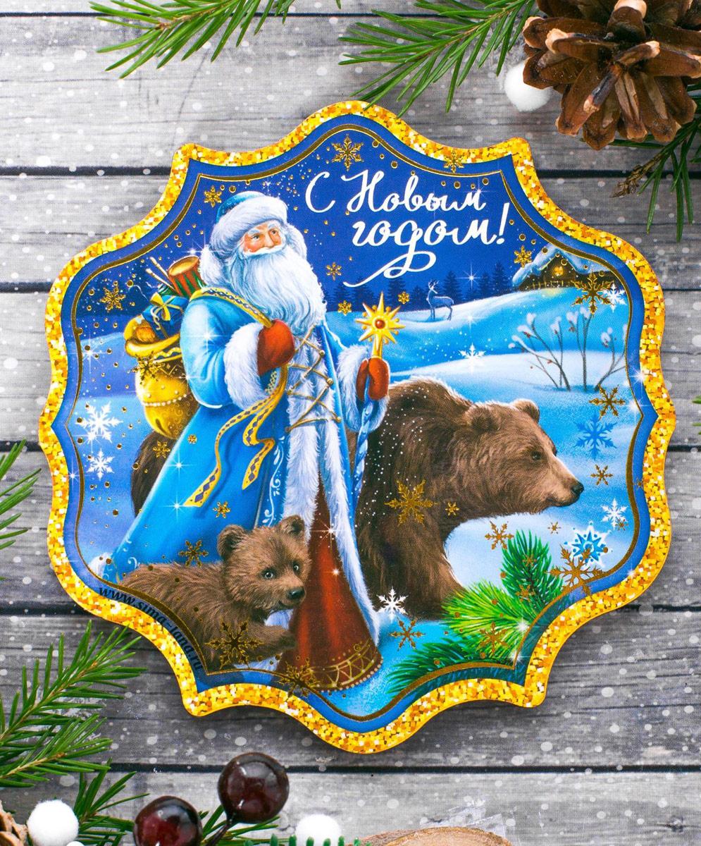 Подставка под горячее Sima-land С Новым годом. Дед Мороз, 10,6 х 10,9 см