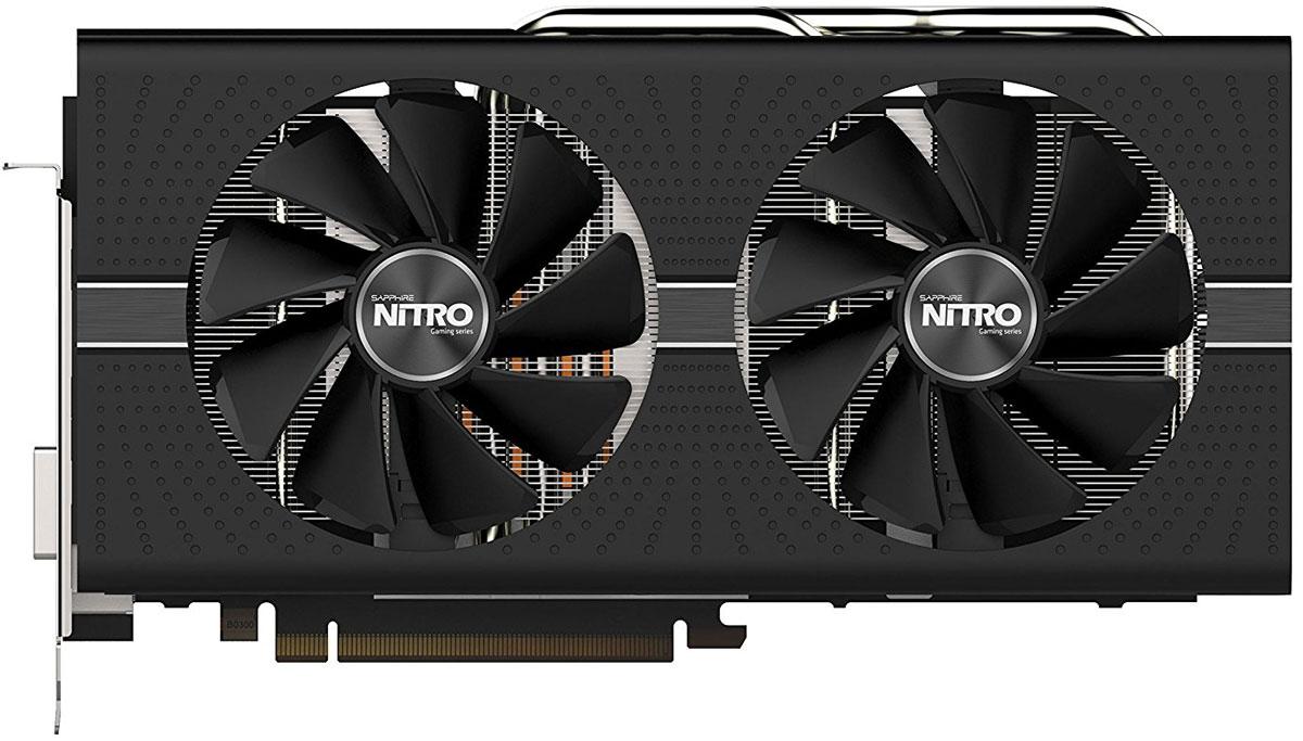 Sapphire Nitro+ Radeon RX 580 8GB видеокарта11265-01-20GВидеокарта Sapphire Nitro+ Radeon RX 580 оснащается двумя разъёмами HDMI специально для работы с устройствами виртуальной реальности. Два разъёма HDMI позволяют одновременно подключить монитор высокого разрешения и новейший шлем виртуальной реальности.Fan Check позволит контролировать состояние вентиляторов с помощью утилиты Sapphire TriXX 3.0 и немедленно связываться со службой поддержки в случае.Вентиляторы, применяющиеся в видеокартах Sapphire Nitro+, поддерживают систему Quick Connect. Это значит, что их можно с легкостью снять, очистить и заменить, поскольку они надежно фиксируются всего одним винтом, и разбирать кожух или иные элементы видеокарты не потребуется.Усовершенствованная интеллектуальная система управления вентиляторами III полностью отключает вентиляторы в зависимости от нагрузки, а благодаря технологии NITRO CoolTech вентиляторы запускаются точно при температуре 52 °С, позволяя получить оптимальный баланс между производительностью и шумом.В новой серии видеокарт используется новый дизайн системы охлаждения NITRO Free Flow, который позволяет более эффективно распределять воздушные потоки и выводить горячий воздух из системы.Фирменное охлаждение Dual-X от Sapphire - это два тихих вентилятора увеличенного размера и современный радиатор. Новая форма лопастей 95-миллиметровых вентиляторов позволяет обеспечить более эффективную циркуляцию воздуха и уменьшить уровень шума по сравнению с предыдущими моделями.Технология Frame Rate Target Control (FRTC) позволяет настраивать количество кадров в секунду в реальном времени. Эта функция уменьшает потребление графического процессора (полезно для игр, в которых частота кадров намного превышает частоту обновления дисплея), соответственно уменьшая тепловыделение и обороты вентилятора, что дополнительно уменьшает шум видеокарты.Технология AMD Crossfire предназначена для создания мощных игровых станций с несколькими видеокартами. Она позволяет использовать в одн