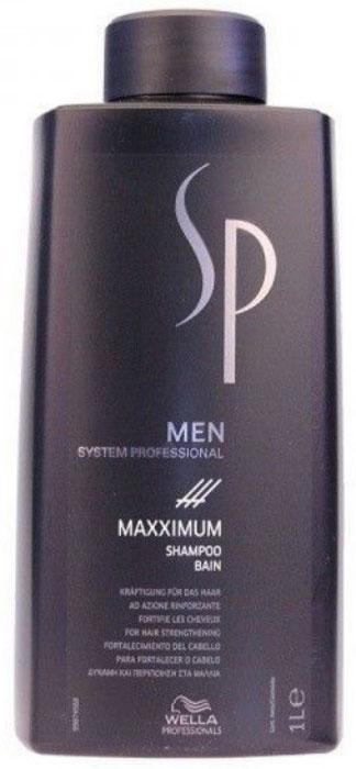 Wella SP Максимум шампунь против выпадения волос Men Maximum Shampoo, 1000 мл81311351Шампунь против выпадения волос Maximum Shampoo разработан лучшими немецкими специалистами специально для укрепления ослабленных волос и подготавливает волосы и кожу головы к воздействию Maximum Tonic. Входящий в состав шампуня, ментол активизирует кровообращение, глубоко питает луковицы волос, обладает превосходными освежающими свойствами. Пантенол увлажняет волосы, а кофеин стимулирует функции кожи головы.