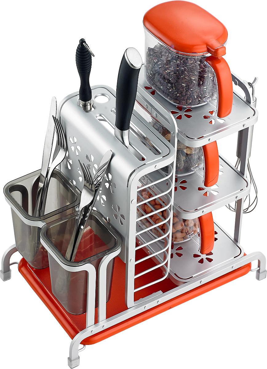 Сушилка для посуды Travola. TA-1367ATA-1367AСушилка для посуды Travola изготовлена из алюминия и пластика. Она представляет собой решетку с ячейками для посуды и подставок длякухонных приборов. Изделие оснащено пластиковым поддоном для стекания воды. На такой сушилке вы сможете разместить большоеколичество предметов.