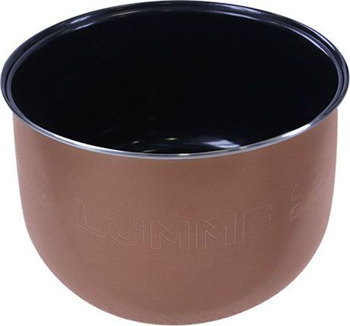 Lumme LU-MC301 Ceramic, Black чаша для мультиварки, 5 лLU-MC301Утолщенная чаша для мультиварки, объем 5л, внутреннее двухслойное экологически чистое керамическое покрытие