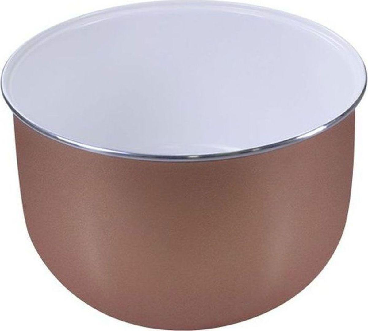 Lumme LU-MC304, White чаша для мультиварки, 5 лLU-MC304Утолщенная чаша для мультиварки, 5 л, керамическое покрытие внутри