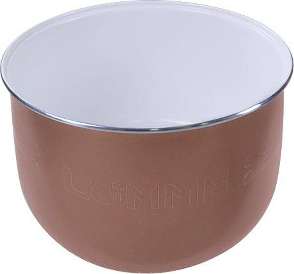 Lumme LU-MC301 Сeramic, White чаша для мультиварки, 5 лLU-MC301Утолщенная чаша для мультиварки, объем 5л, внутреннее двухслойное экологически чистое керамическое покрытие