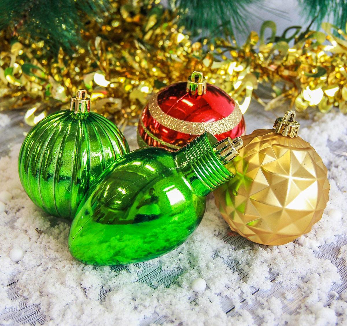 Набор новогодних подвесных украшений Sima-land, цвет: мультиколор, 8 шт2187031