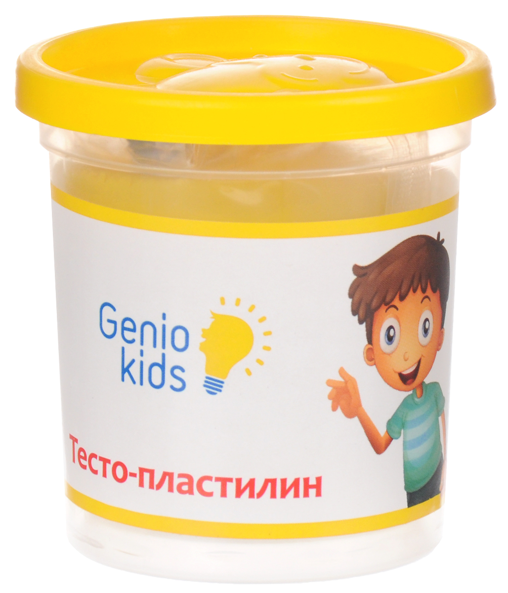 Genio Kids Тесто-пластилин цвет желтыйTA1044V_желтыйТесто-пластилин Genio Kids - это натуральный и совершенно безвредный материал, созданный из пшеничной муки. Пластилин быстро высыхает, не имеет запаха, не липнет к рукам и одежде, легко смывается, а так же легко смешивается, что позволяет получать новые цвета. Пластилин прекрасно развивает моторику рук и пространственное мышление, а также воображение и художественный вкус. Фигурка, сделанная своими руками из пластилина, будет предметом гордости малыша и обязательно станет его любимой игрушкой.