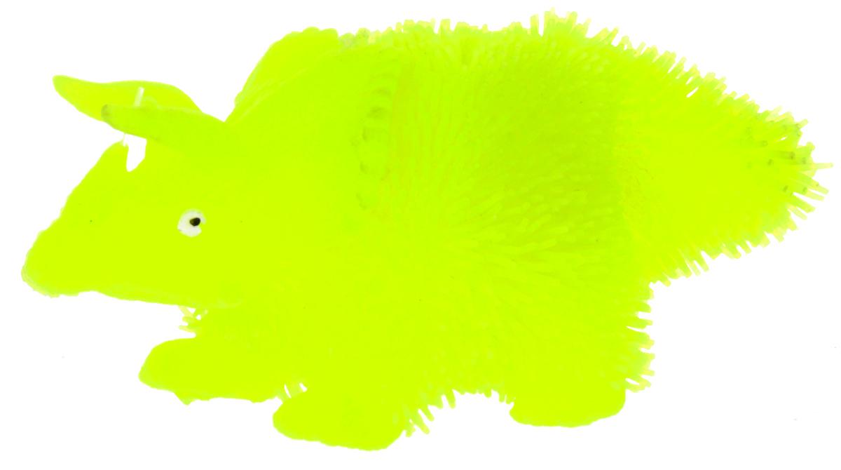 1TOY Антистрессовая игрушка Нью-Ёжики Динозавр цвет желтый