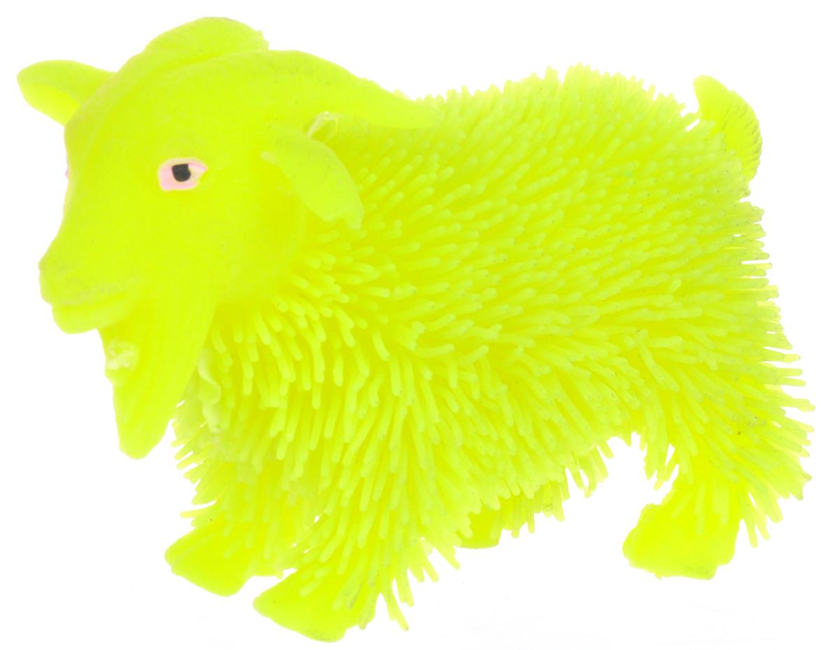 1TOY Антистрессовая игрушка Нью-Ёжики Козел цвет желтый 1toy игрушка антистресс ё ёжик животное цвет бежевый